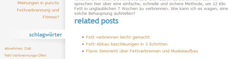 Plugins für WordPress: Related Posts