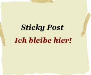 Sticky Post Artikel