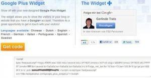 Google_plus Widget Code