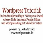 WordPress Tutorial: Externe Links der Blog Kommentare in neuem Fenster öffnen